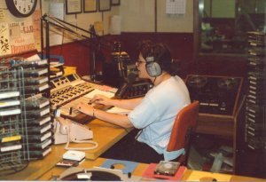 Running the board at KJJQ, circa 1987