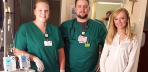 Katie, Andy and Bethannie, members of my amazing transplant team.